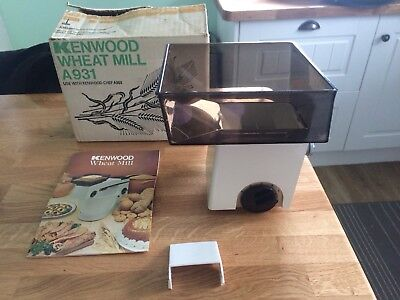 KENWOOD CHEF - Wheat Mill - A931  (Fits 901 & KM) Excellent condition.