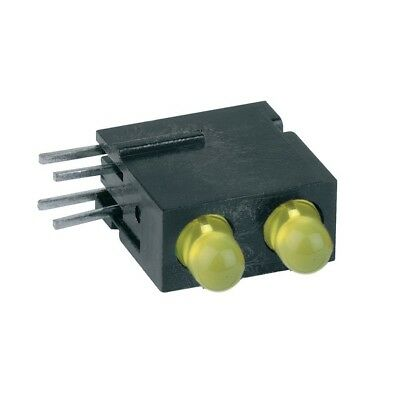1x 1801.7733 Diode LED in housing 3mm THT yellow 1.2-4mcd 60° MENTOR