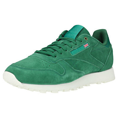 d866498645de REEBOK CLASSIC LEATHER Ultk Mens Green White Textile   Synthetic ...
