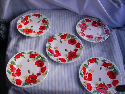 "5 off plates by Roy Kirkham "" Monet"""
