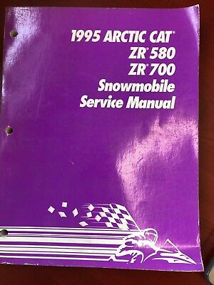 arctic cat snowmobile service manual - 1995 zr 580/zr 700