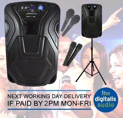 Karaoke Machine Portable Bluetooth PA System Ideal for Home Club or Busking