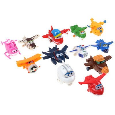12pcs Animation Super Wings Transformation des avions Airplane Figures