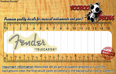 Fender Telecaster 1952 VINTAGE LOOK (Grey logo) Waterslide decal