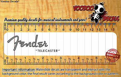 Fender Telecaster 1952 (Grey logo) Waterslide decal