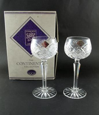 2 Edinburgh Crystal ' Royal ' Hock Glass  Unused  Boxed  Continental Collection