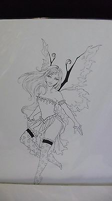 Amy Brown Fairy Faery Faerie  Sketch Print  Out of Print 2004