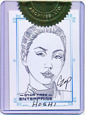2004 Star Trek Women of Enterprise Season Three T'Pol Sketch by John Czop - QTY