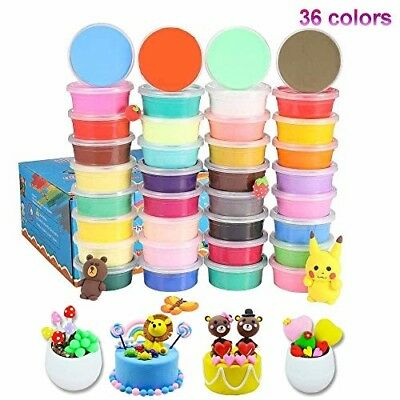 36 PACK Air Dry Clay, 36 Colours Modelling Clay Best Gift for Kids, Ultra Light