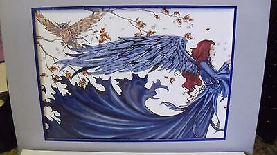 Amy Brown - Blue Faery   - OUT OF PRINT -  Retired  Free Shipping!