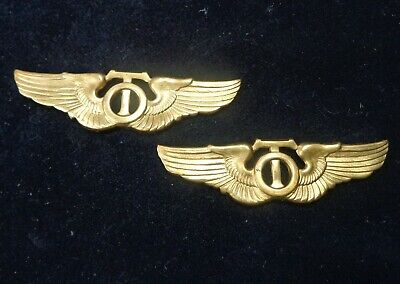 (2) Early 1940's VERY RARE ( WWII ) US ARMY AIR FORCE Technical Observer Wings
