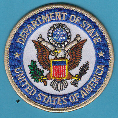 Us Department Of State Seal Police   Patch