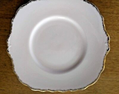 Royal Vale Pink Cake Plate English China Serving Plate Pink Gold Trim