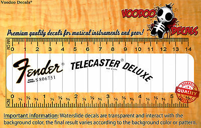 Fender Telecaster Deluxe USA Waterslide decal
