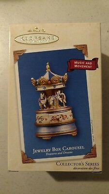 Hallmark Keepsake Christmas Ornament 2003 Jewelry Box Carousel SOUND MOTION
