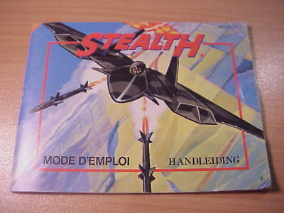 Nintendo NES - STEALTH - Manual/Handleiding - French/Dutch Language