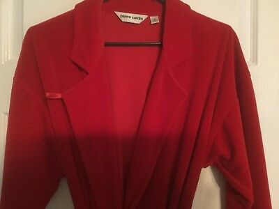 VINTAGE USA MEN PIERRE CARDIN ROBE RED SMALL Excellent