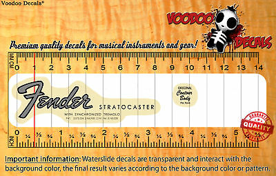 Fender Stratocaster 60s VINTAGE LOOK (Grey logo) Waterslide decal