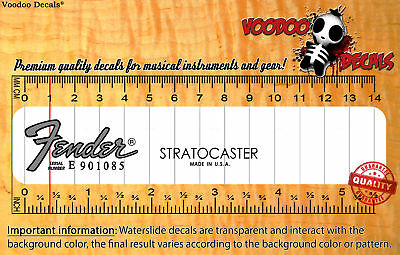 Fender Stratocaster USA (Grey logo) Waterslide decal