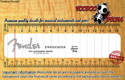 Fender Stratocaster (Grey logo) Waterslide decal