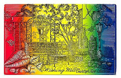 Court of Two Sisters Postcard Wishing Well New Orleans Louisiana Romantic Place