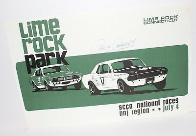 1967 Carroll Shelby Trans-Am Mustang Dan Gurney 1968 Cougar Hand Signed Poster