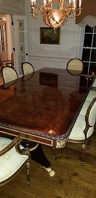 Formal Mahogany Dining Room Table and Chairs by Girard-Emilia Inc
