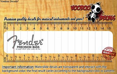 Fender Precision Bass 50s (Grey logo) Waterslide decal
