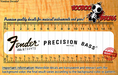 Fender Precision Bass USA Waterslide decal