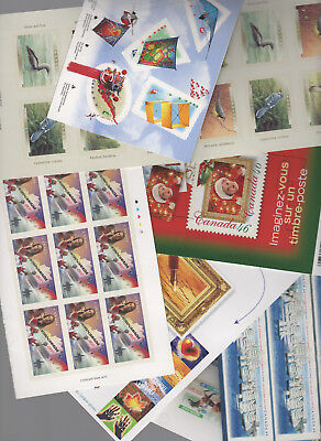 CANADA  postage lot 46 cent SELF STICK BOOKLETS $46.00 Face your price $36.80