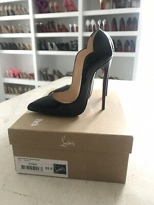 22a6d5332f93 Christian Louboutin HOT CHICK 130 Black Patent 35.5 SOLD OUT EVERYWHERE