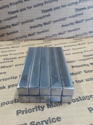 Blacksmith Hardy 10 pieces 1/2  inch by 4 inch Square Stock Steel- forge-anvil