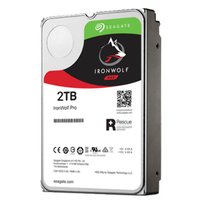 "IronWolf Pro NAS HDD 3.5"" 2TB SATA 7200RPM 128MB CACHE NO ENCRYPTION 5 YRS"