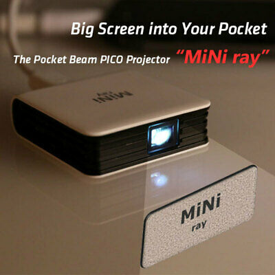 The Pocket Beam PICO Projector MiNi ray - Big Screen into Your Pocket for PC, MA