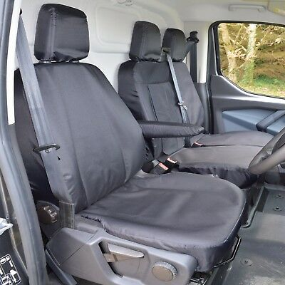 Ford Transit Custom Heavy Duty Tailored Seat Covers in Black FITS THE MK8 - 2018