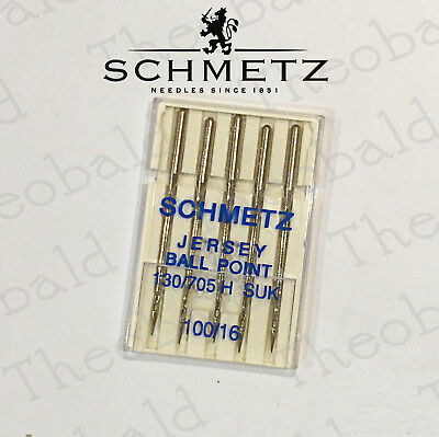 Schmetz Domestic Jersey Sewing Machine Needles Size 16/100 Fit Brother,janome ..