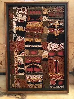 Dolores Glovna Abstract Needlework Weaving Textile Art Mixed Media Abstract '70