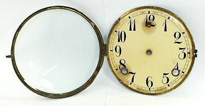 """ANTIQUE 5-1/2"""" CLOCK DIAL PAN, and BEZEL with GLASS - DH437"""