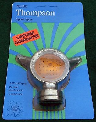 NOS Vintage  Thompson Lawn Sprinkler Square Spray  Unopened