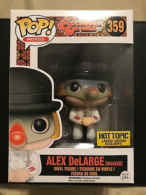 Funko Pop Movies A Clockwork Orange Alex DeLarge Masked Hot Topic Figure 359 NEW