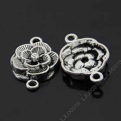20x Tibetan Silver Charms Heart Wings Connectors Findings DIY Accessories//784F