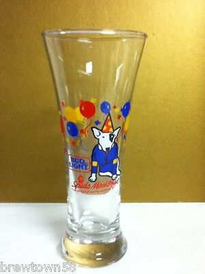 Bud Light Spuds Mackenzie The Original Party Animal beer glass glasses 1987 PP3