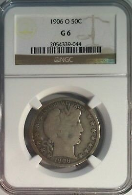 1906-O Certified by NGC G6 Barber Half Dollar Good Old Silver Coin Free S&H 077
