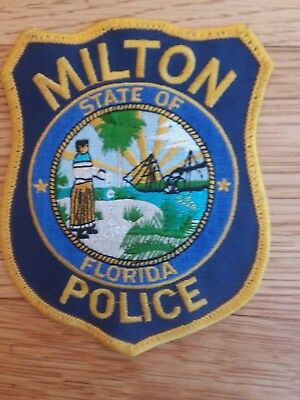 Milton State of Florida Police  Embroidered Sew On Shoulder Patch Unused