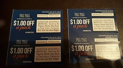 $4.00 In Pall Mall Cigarette Coupons