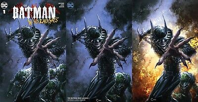 Batman Who Laughs 1 Clayton Crain Negative Virgin Variant Set Nm