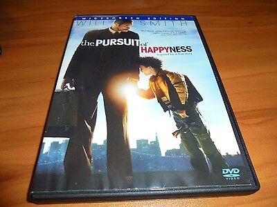 The Pursuit of Happyness (DVD, 2007, Widescreen) Used Will Smith Happiness