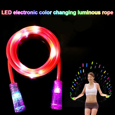 Kids Childrens Glow Rope Skipping LED Light Flashing Stage Effect For Exercises