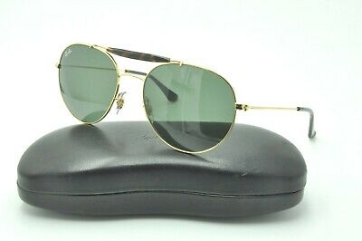 fb85792f26a RAY BAN RB3540 001 56mm Gold Classic Green G-15 Round Double Bridge ...