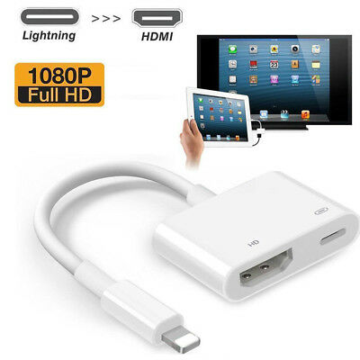 Lightning To HDMI Digital AV TV Cable Adapter For iPad iPhone XS XR X 8 7 6 Plus